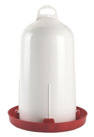 Doppelzylinder-Kunststofftränke 12 l Hühnertränke Tragegriff Bajonettverschluss