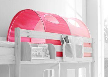Tunnel rosa / pink 100% Baumwolle für Hochbett