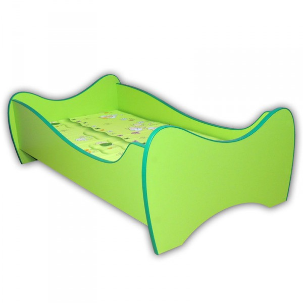 Kinderbett Curly inkl Rollrost + Matratze 70*140 cm Grün