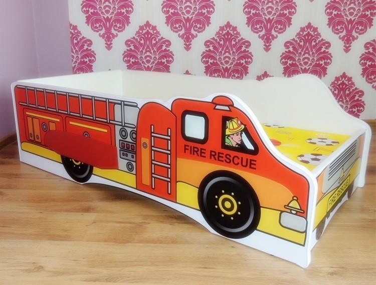 Kinderbett Fire inkl Rollrost + Matratze
