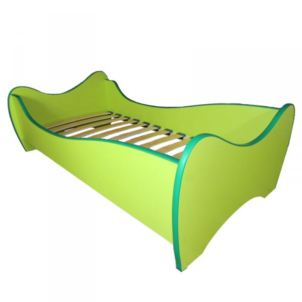 kinderbett curly inkl rollrost matratze 80 160 cm gr n einzelbetten. Black Bedroom Furniture Sets. Home Design Ideas