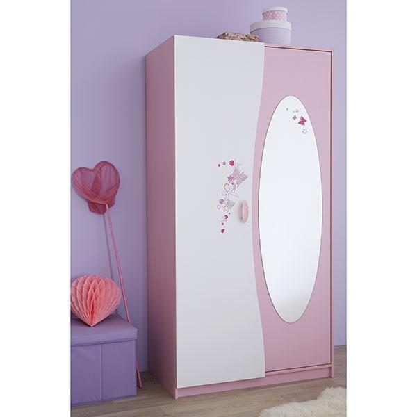 Kinderzimmer Ava 3-teilig Rosa Weiß