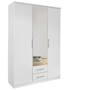 Falttürenschrank Kian weiß 3 Türen B 136 cm / H 212 cm
