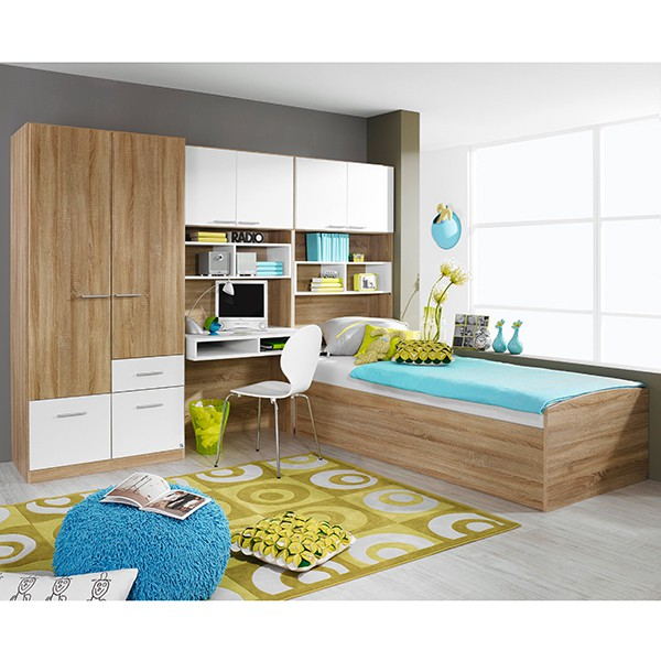 kinderzimmer tino 4 teilig grau wei b 281 cm kinder jugendzimmer. Black Bedroom Furniture Sets. Home Design Ideas