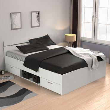 Funktionsbett Elian 140*200 cm Weiß