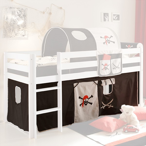vorhang pirat 3 teilig 100 baumwolle f r hochbett hochbett vorh nge. Black Bedroom Furniture Sets. Home Design Ideas