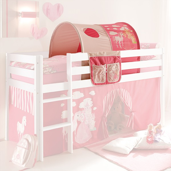 tunnel bett tasche prinzessin 100 baumwolle f r hochbett hochbett vorh nge. Black Bedroom Furniture Sets. Home Design Ideas