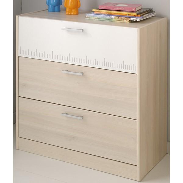 kinderzimmer charly parisot 3 teilig grau wei kinder jugendzimmer. Black Bedroom Furniture Sets. Home Design Ideas