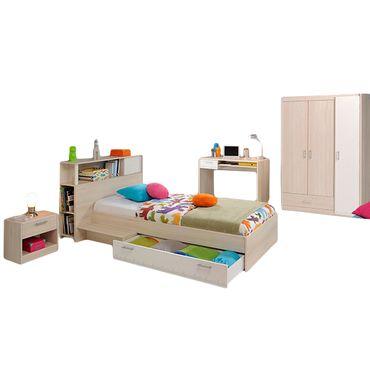 Kinderzimmer Charly Parisot 4-teilig Grau / Weiß