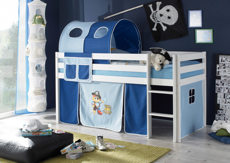 Tunnel + Bett-Tasche Pirat 100% Baumwolle für Hochbett