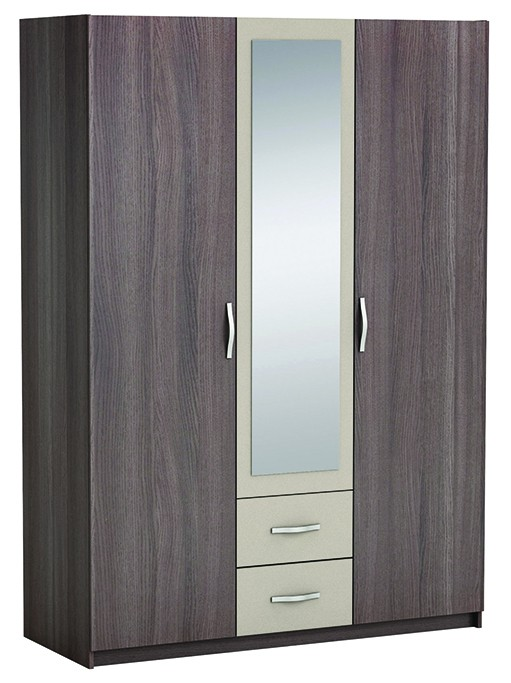 kleiderschrank manolo grau 3 t ren b 143 cm kleiderschr nke. Black Bedroom Furniture Sets. Home Design Ideas