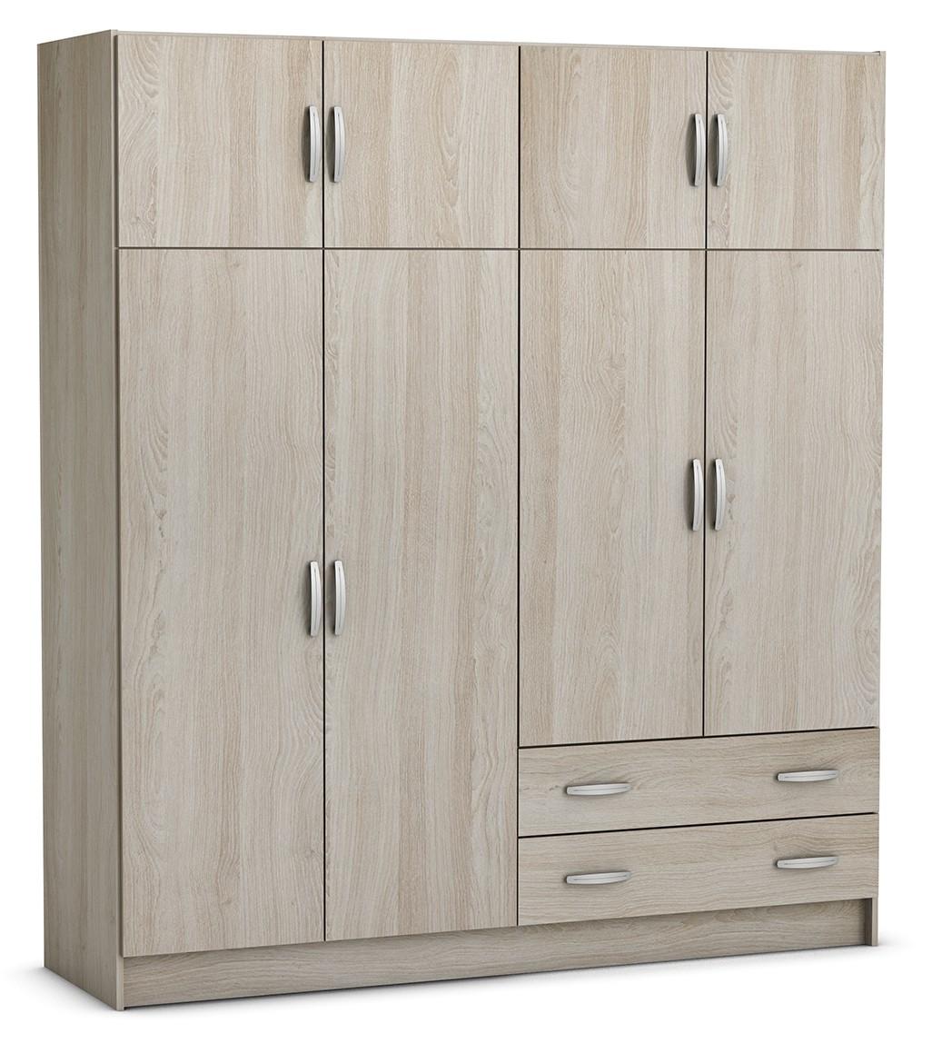 kleiderschrank lya 2 beige 6 t ren b 179 cm kleiderschr nke. Black Bedroom Furniture Sets. Home Design Ideas