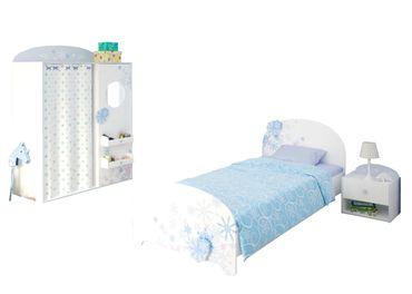 Kinderzimmer Snow 3-teilig weiß / blau