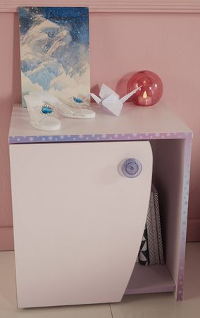 Nachtkommode Cristal Parisot rosa / lila