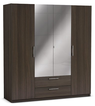 kleiderschrank nabila braun 4 t ren b 187 cm kleiderschr nke. Black Bedroom Furniture Sets. Home Design Ideas