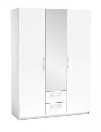 Kleiderschrank Sabella weiß 3 Türen B 144 cm
