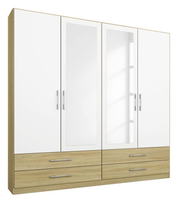 kleiderschrank finn beige wei 4 t ren b 181 cm h 210 cm kleiderschr nke. Black Bedroom Furniture Sets. Home Design Ideas