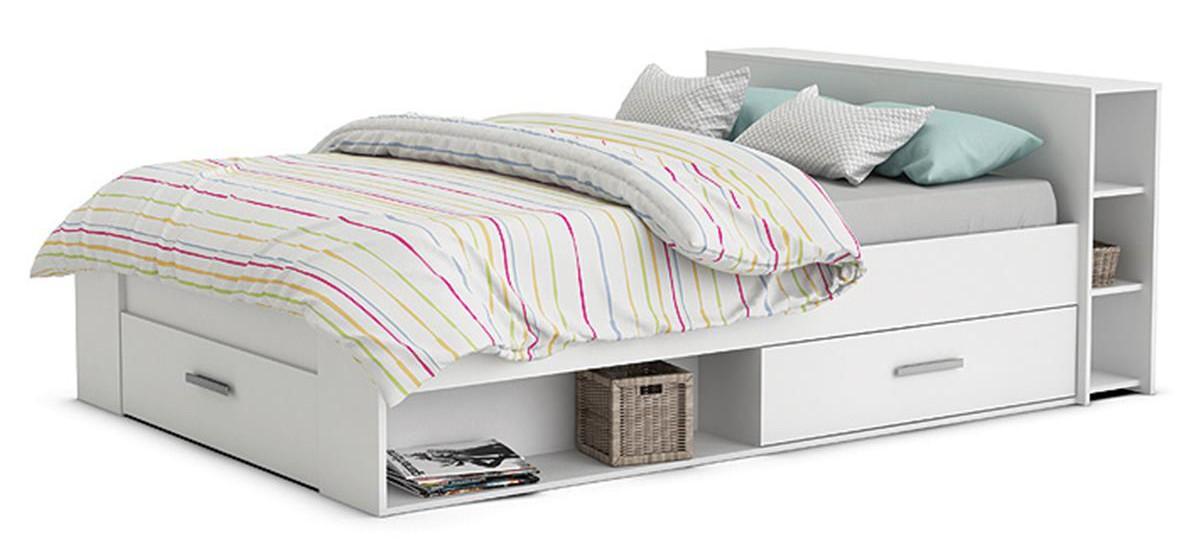 Funktionsbett Abby 160*200 cm Weiß