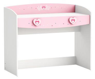Schreibtisch Lotte weiß / rosa