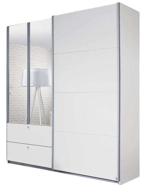 Dreh-/Schwebetürenschrank Luisa weiß 3 Türen B 181 cm