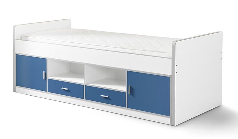 Funktionsbett Nova 90*200 cm Weiß / Blau