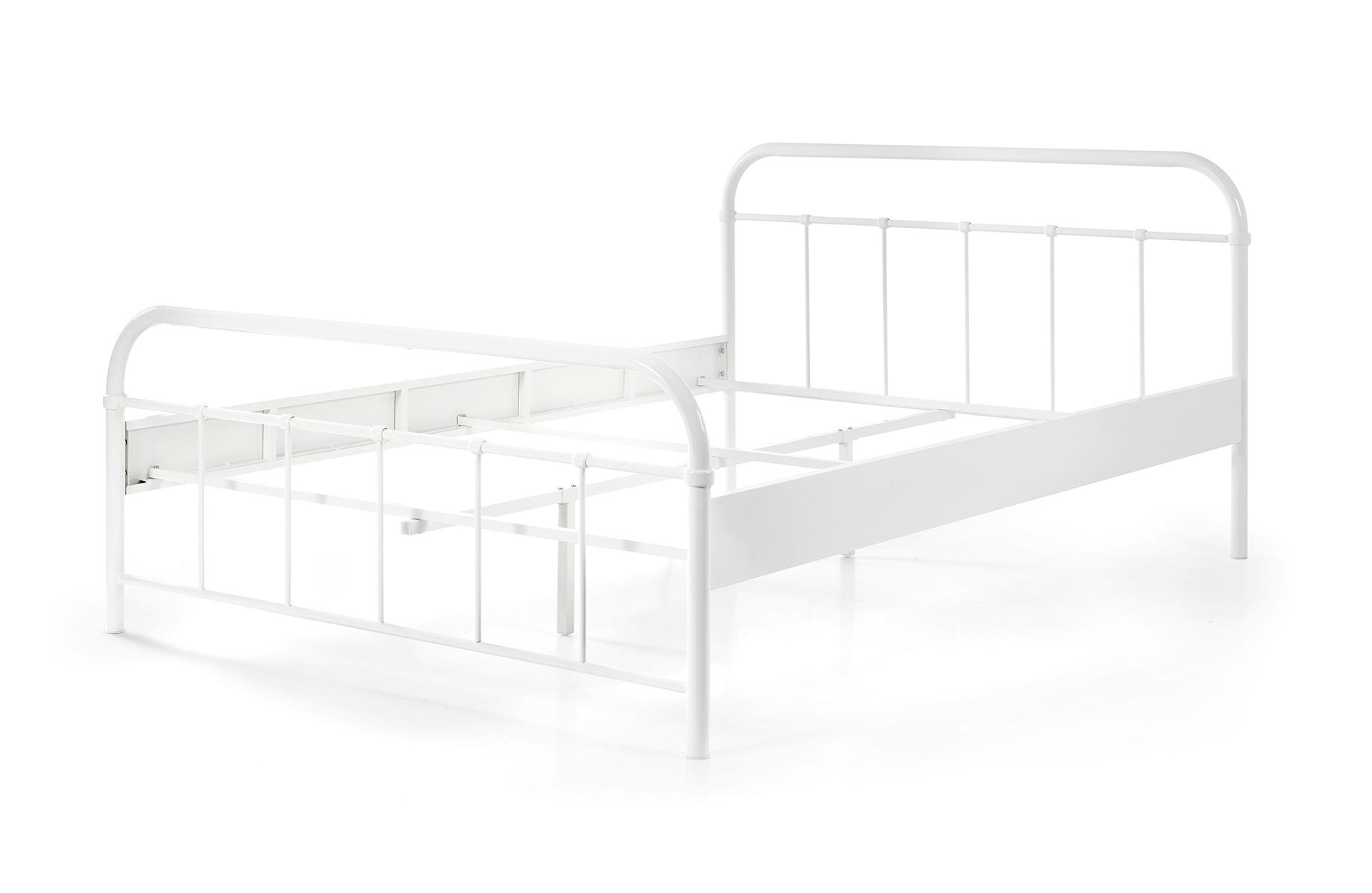 metallbett janek 140 200 wei einzelbetten metallbetten. Black Bedroom Furniture Sets. Home Design Ideas
