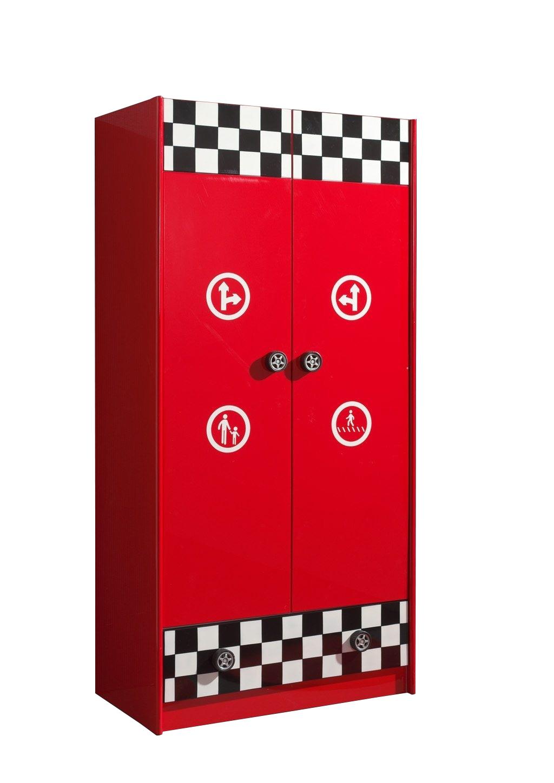 Kleiderschrank Felix rot  2 Türen B 95 cm