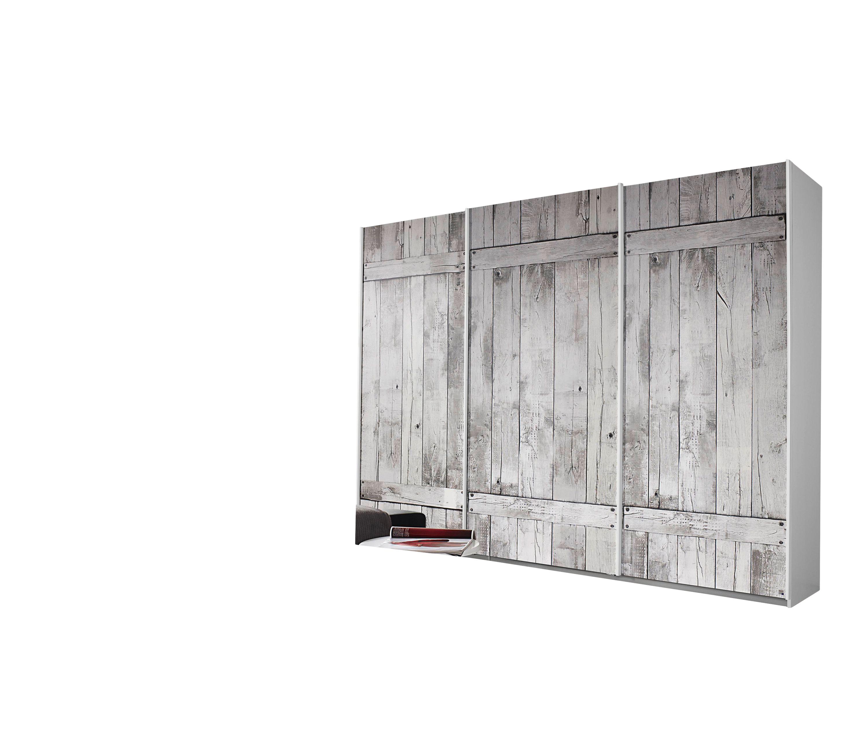 Schwebetürenschrank Isa weiß silber-grau 3 Türen B 271 cm