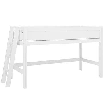 Hochbett Bela 90*200 cm weiß LIFETIME inklusive Rollrost