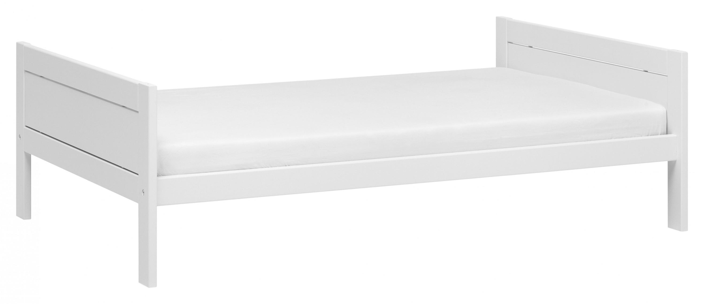 Himmelbett City Chic 120*200 cm weiß lackiert mit MDF-Füllung LIFETIME inklusive Lattenrost