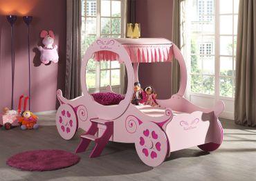 Kutschenbett Kisha rosa inkl. Rollrost