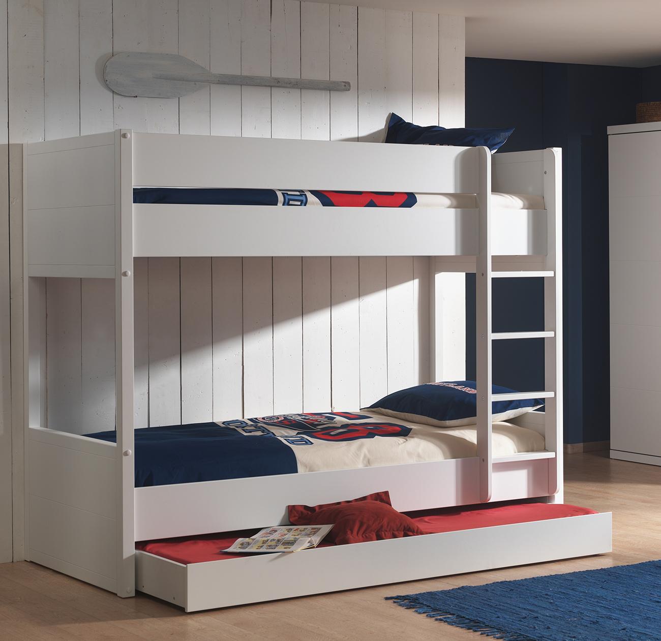 Etagenbett Mina weiß inklusive Bettkasten