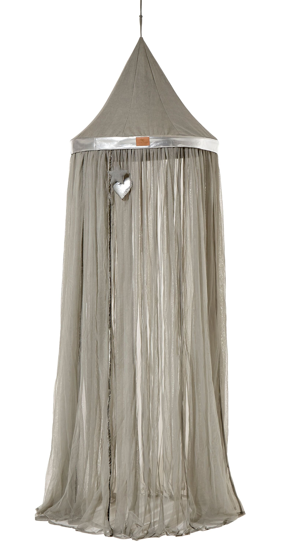 Himmelbett Classy Grey 90*200 cm whitewash LIFETIME inklusive Lattenrost