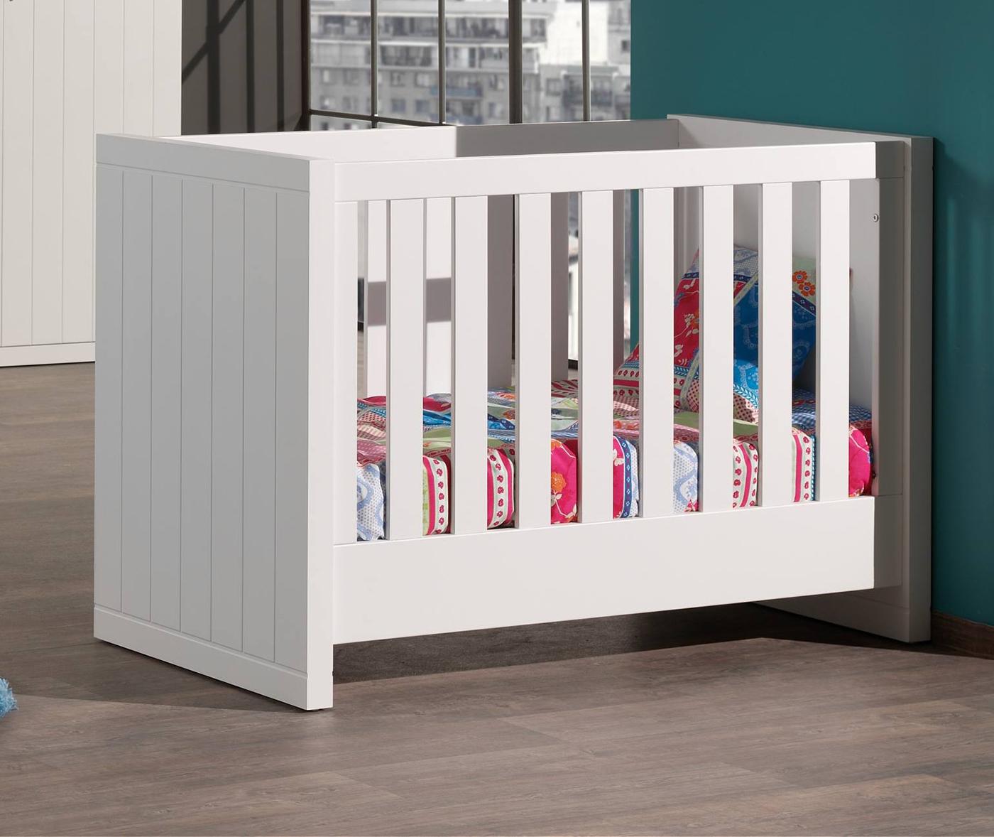 Babybett Romy inkl. Lattenrahmen 60*120 cm weiß