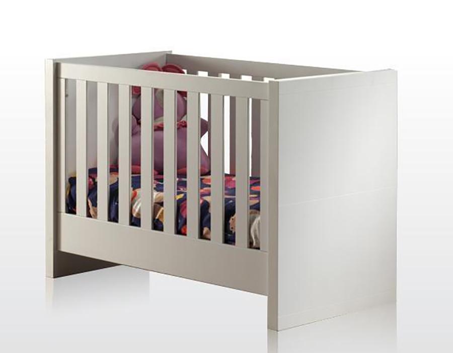 Babybett Mina inkl. Lattenrahmen 60*120 cm weiß