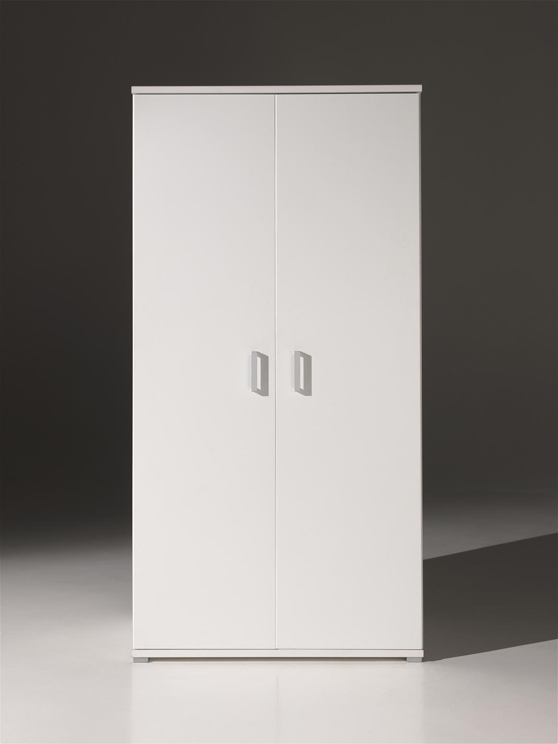 Kleiderschrank Bella weiß 2 Türen B 105 cm
