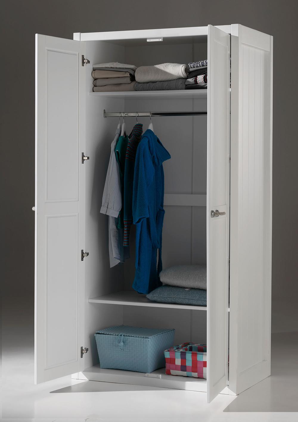 Kleiderschrank Lani weiß 2 Türen B 100 cm