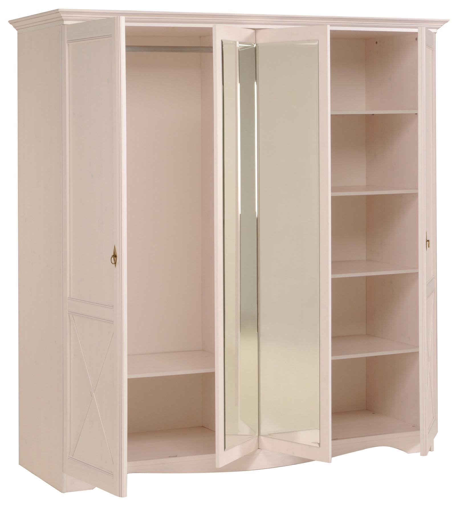 Jugendzimmer Marion 2 Parisot 5-teilig weiß inkl Kommode + Bett + 2 Nachtkommoden + Kleiderschrank