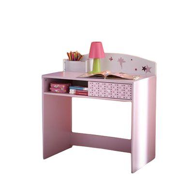 Schreibtisch Sternchen Lila / Weiß