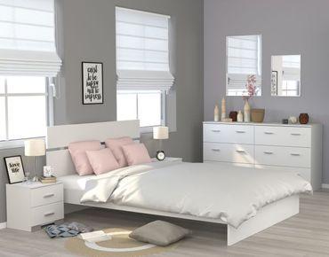 Jugendzimmer Galaxy 124 Parisot 4-teilig weiß inkl Kommode + Bett + 2 Nachtkommoden