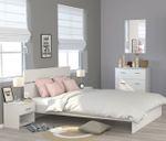 Jugendzimmer Galaxy 125 Parisot 4-teilig weiß inkl Kommode + Bett + 2 Nachtkommoden