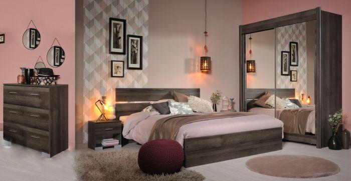 Jugendzimmer Galaxy 303 Parisot 5 Teilig Braun Inkl Kommode + Bett + 2  Nachtkommoden +