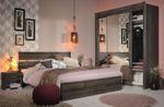 Jugendzimmer Galaxy 304 Parisot 4-teilig braun inkl Bett + 2 Nachtkommoden + Schwebetürenschrank