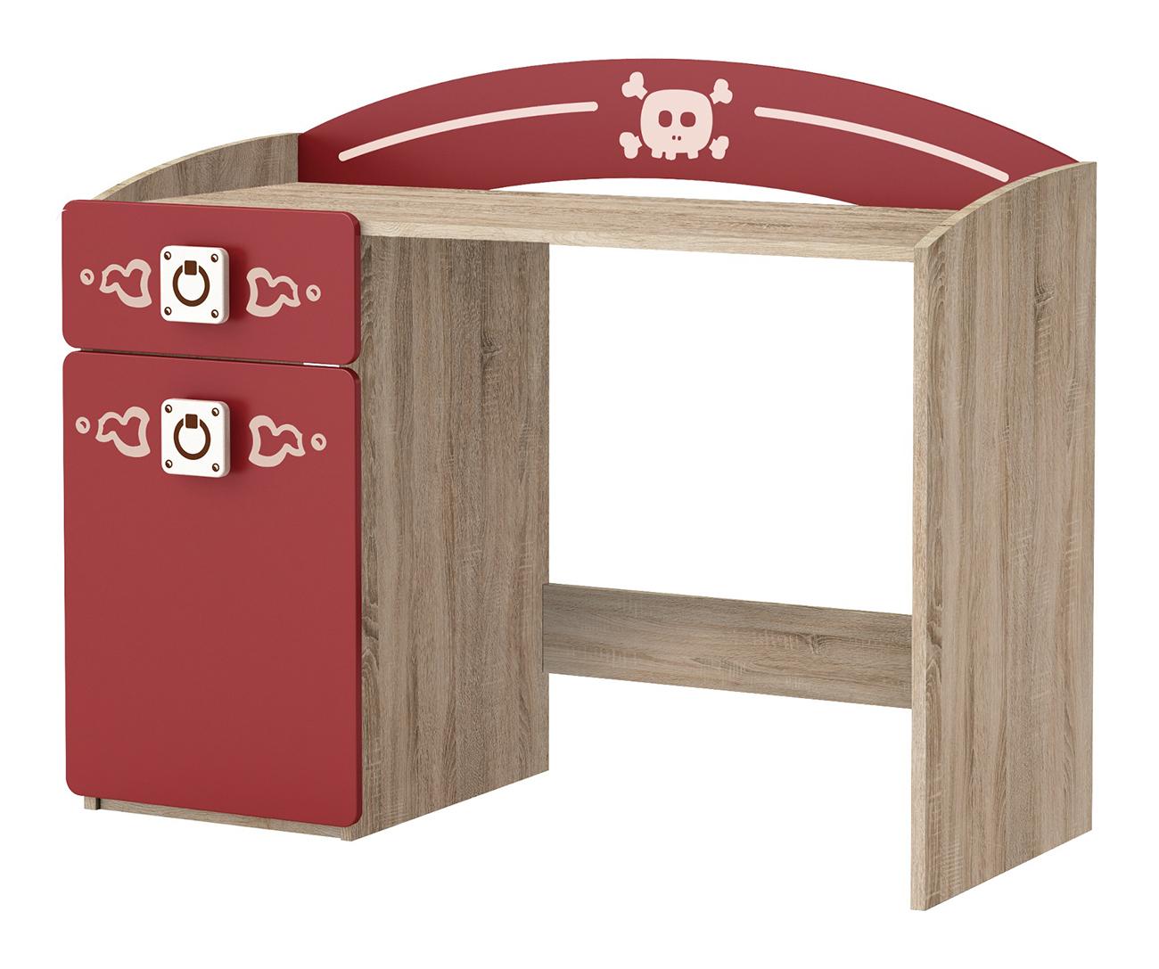 Schreibtisch Seemann rot / grau