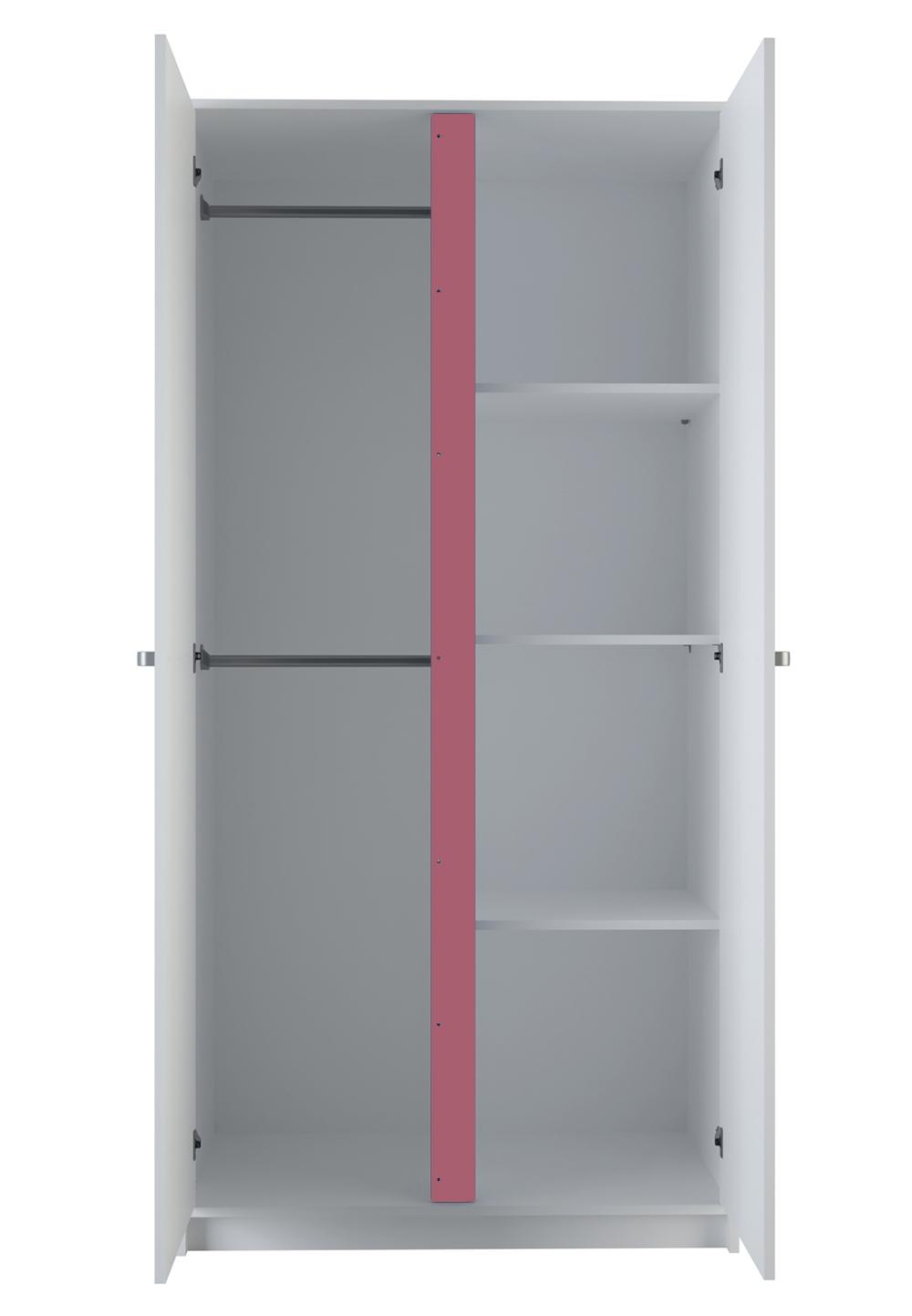 Kleiderschrank Tara Weiß 2 Türen B 89 cm