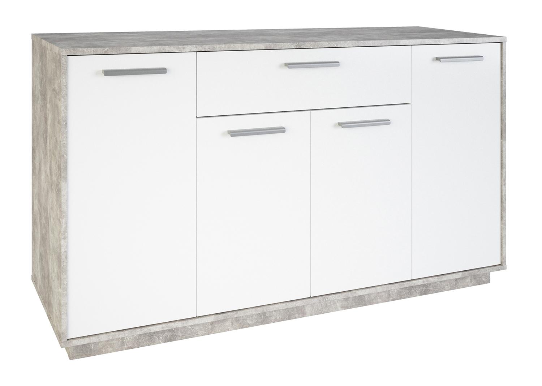 Kommode Ivo 4 weiß / grau