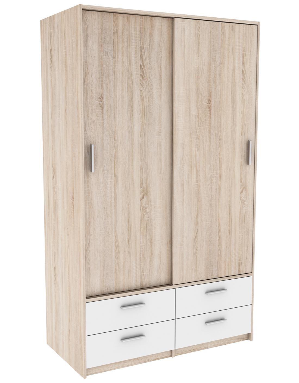 schiebet renschrank cyril grau wei 2 t ren b 120 cm. Black Bedroom Furniture Sets. Home Design Ideas