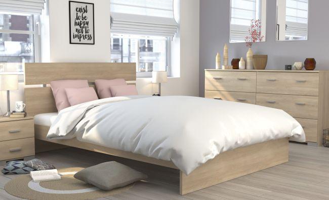 Jugendzimmer Galaxy 523 Parisot 4-teilig beige inkl Kommode + Bett + 2 Nachtkommoden