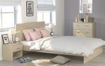 Jugendzimmer Galaxy 526 Parisot 4-teilig beige inkl Kommode + Bett + 2 Nachtkommoden