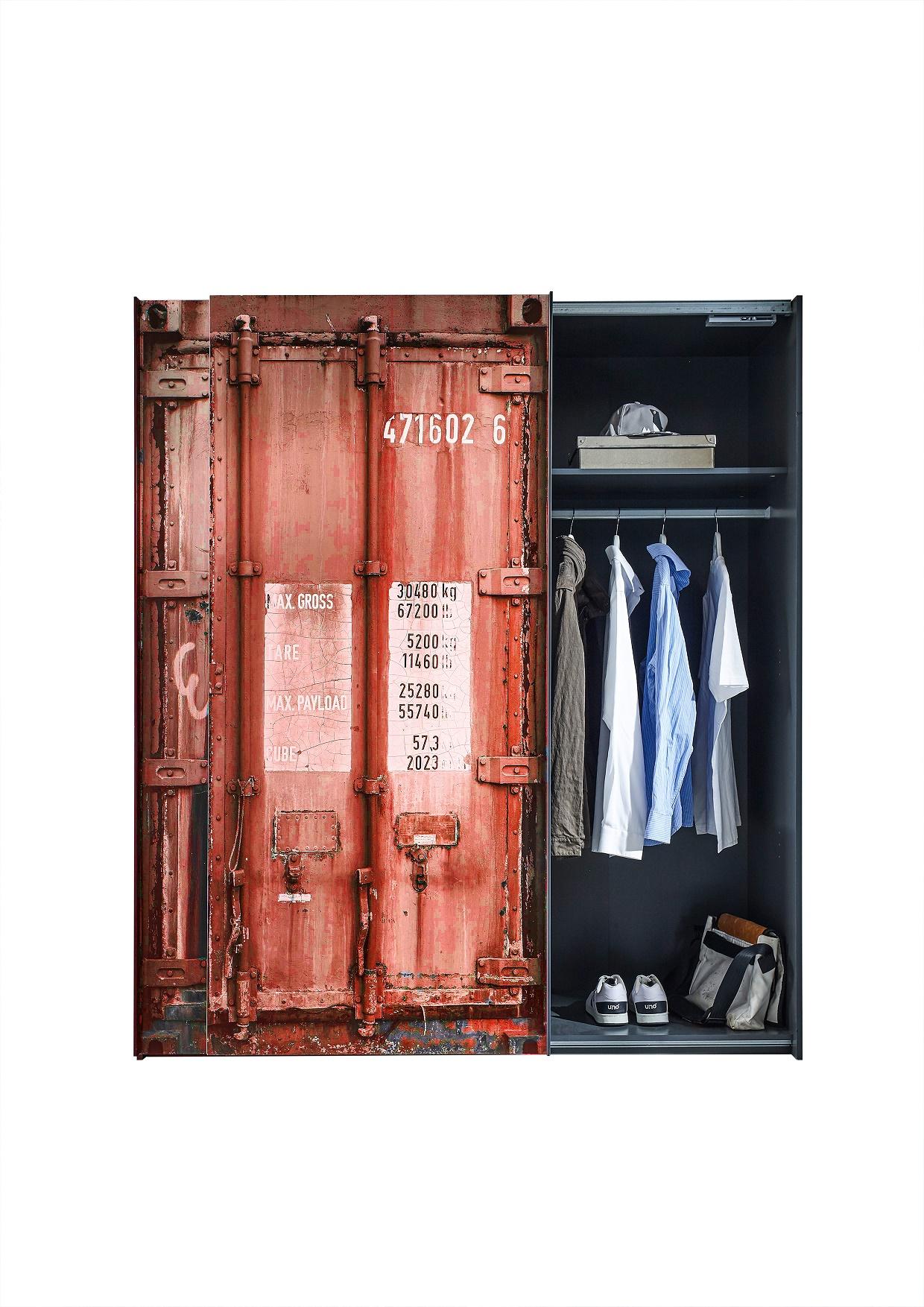Kleiderschrank Josh Container-Optik 2 Türen B 170 cm